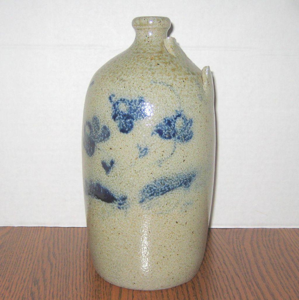 Jugtown North Carolina Salt Glazed Pottery Jug - Damaged