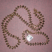 Monet Gold-Tone Necklace and Bracelet Set