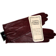 "Guibert Freres ""Edelweiss"" Gloves- Paris Size 6 3/4, Mint"