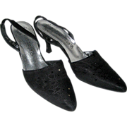 Crepe d'Chine Slingback Dress Shoes - Size 7 1/2 AAA