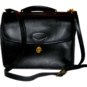Jack Georges Black Leather Messenger Bag
