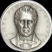 Medallic Arts Silver Statehood Medal - James Fenimore Cooper of New York
