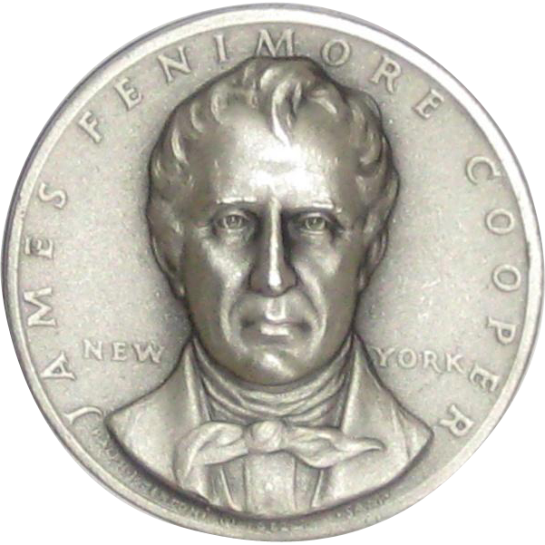Medallic Arts Silver Statehood Medal - James Fenimore Cooper of New York