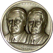 Medallic Arts Silver Statehood Medal - Charles and William Mayo of Minnesota