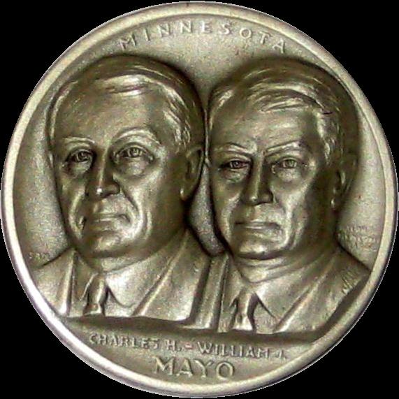 Medallic Arts Silver Statehood Medal - Charles and William Mayo of Minnesota