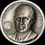 Medallic Arts Silver Statehood Medal - Adlai Stevenson of Illinois