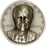 Medallic Arts Silver Statehood Medal - Thomas Edison or New Jersey