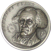Medallic Arts Silver Medal - Signers of the Declaration of Independence - Eldrige Gerry of Massachusetts