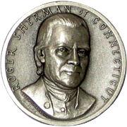 Medallic Arts Silver Medal - Signers of the Declaration of Independence - Roger Sherman of Connecticut