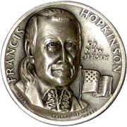 Medallic Arts Silver Medal - Signers of the Declaration of Independence - Francis Hopkinson of New Jersey