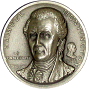 Medallic Arts Silver Medal - Signers of the Declaration of Independence - Samuel Huntington of Connecticut