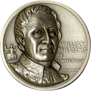 Medallic Arts Silver Medal - Signers of the Declaration of Independence - William Williams of Connecticut