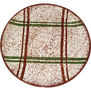 Blue Ridge Pottery Rustic Plaid Dinner Plate