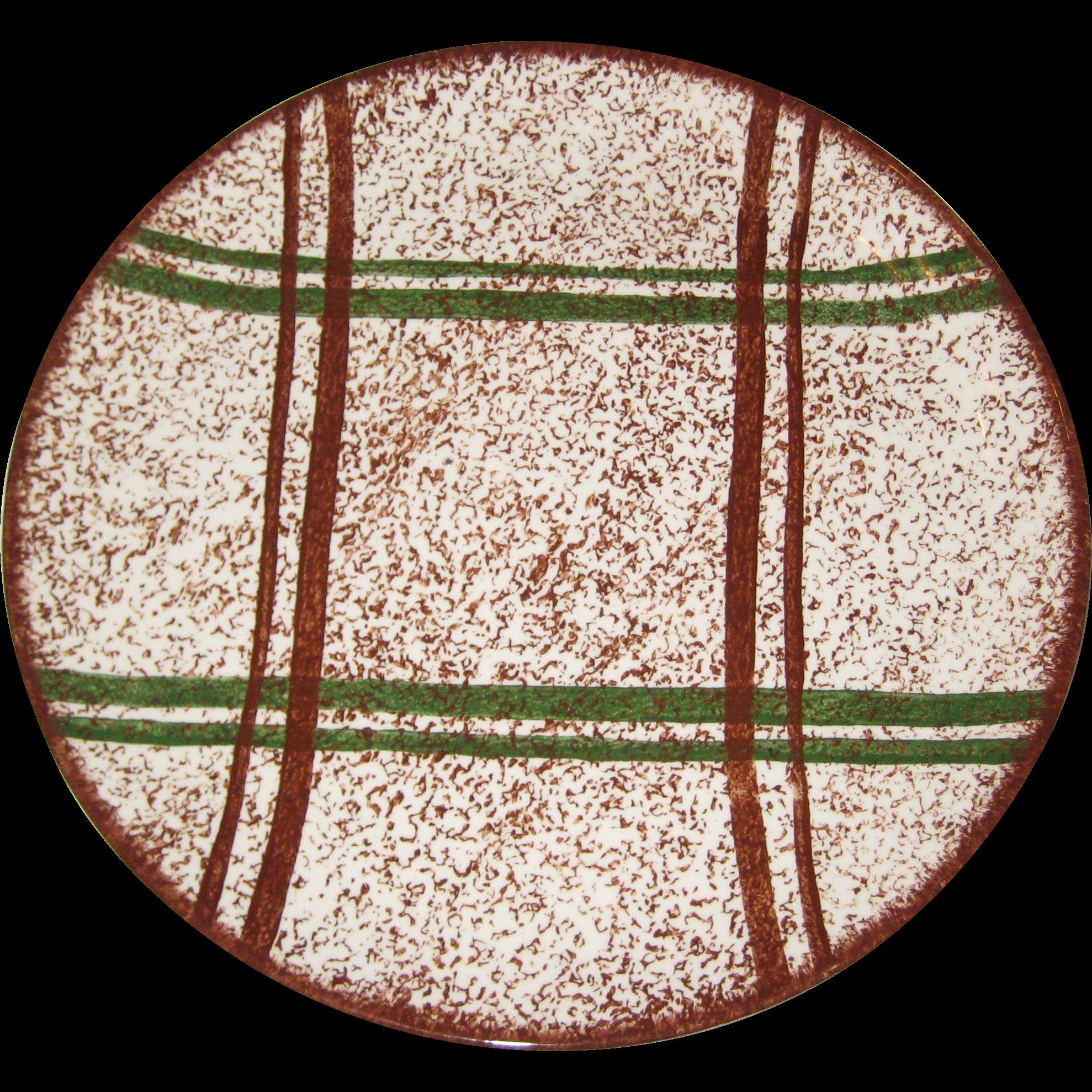 Blue Ridge Pottery Rustic Plaid Dinner Plate