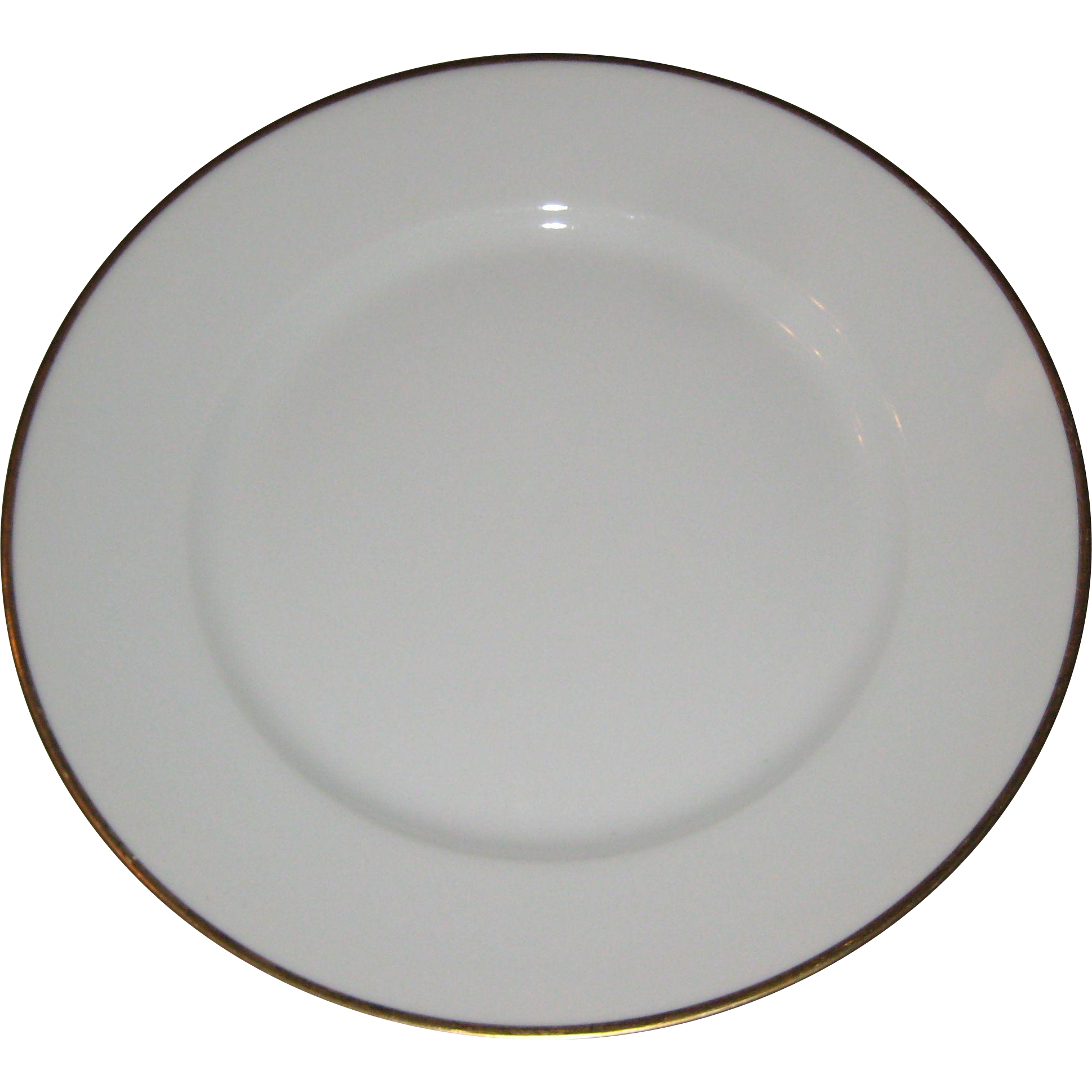 "Theodore Haviland 9 1/2"" Luncheon Plate with Gold Edge"