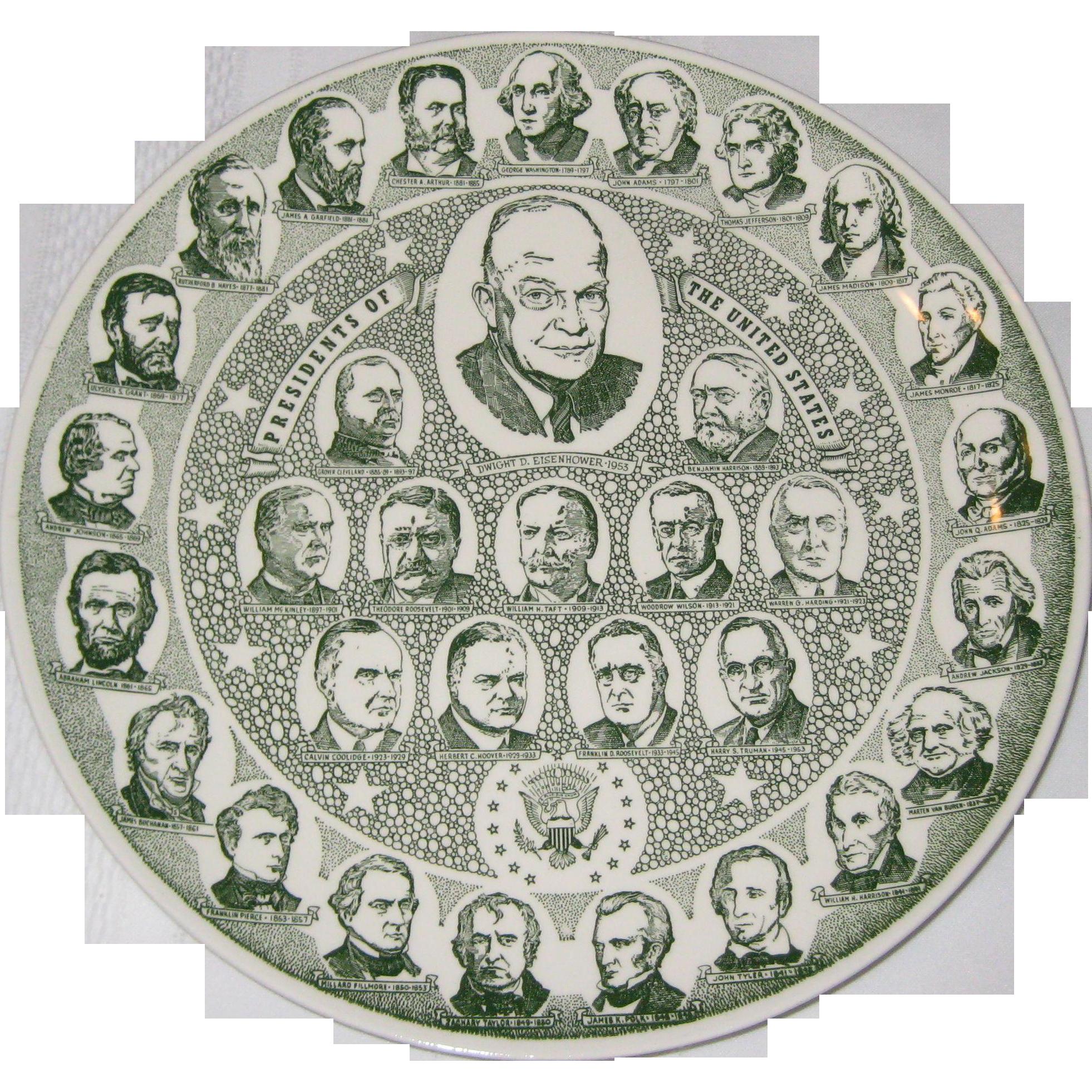 Kettlespring Kilns Presidential Souvenir Plate - Dwight Eisenhower
