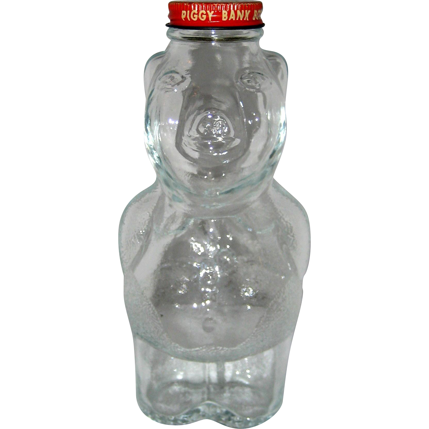 New England Syrup Glass Pig Piggy Bank