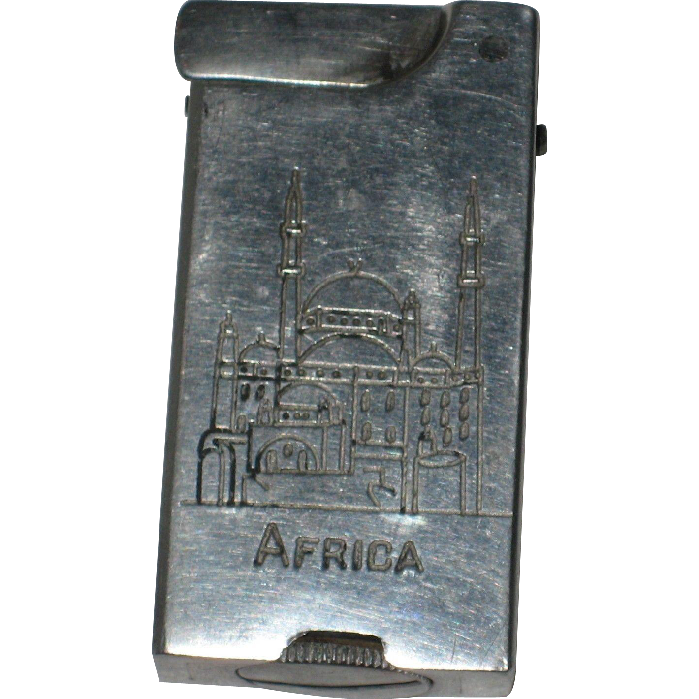 1940's WWII Trench Art Aluminum Petrol Lighter - Africa