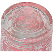1955 Welch's Jelly Glass with Howdy Doody on the Bottom - Ding Dong Dell
