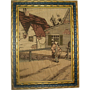La France Jacquard Art Tapestry - Framed Rural Scene