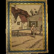 La France Jacquard Art Tapestry - Framed Rural Scene