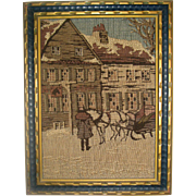 La France Jacquard Art Tapestry - Framed Winter Scene