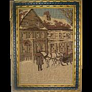 La France Jacquard Art Tapestry - Framed Winter Scene