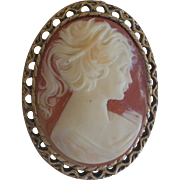 1970's Resin Cameo Pin
