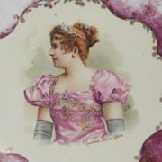 Vienna, Austria Porcelain Portrait or Cabinet Plate - Madame Sans-Gene