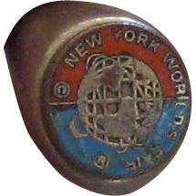 1964 New York World's Fair Metal Souvenir Ring with Unisphere