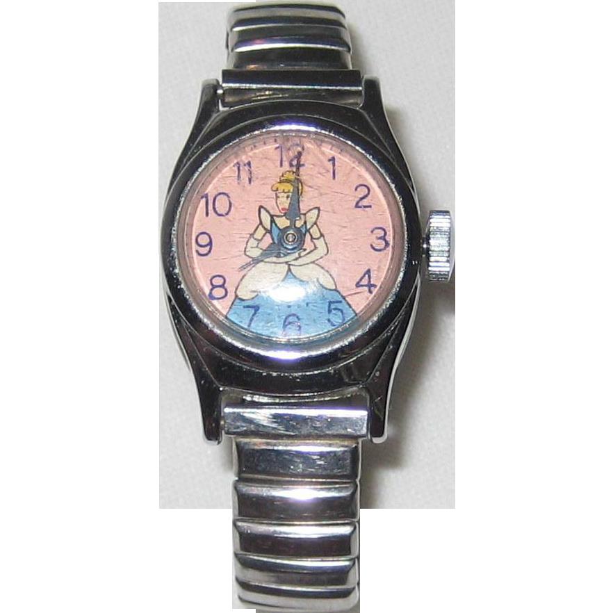 1950's US Time Cinderella Watch - Walt Disney Productions - Ticks!
