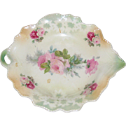 Porcelain Nappy Dish with Roses - Made in Germany