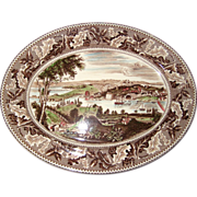 "Johnson Brothers ""Historic America"" 14"" Oval Washington D.C. Transferware Platter - Multicolor"