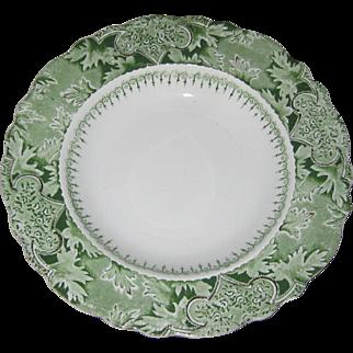 W. H. Grindley Green Transferware Plate in the Atlantic Pattern