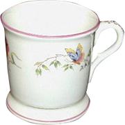 Porcelain Mug with Hand-Painted Butterflies - Circa 1900