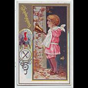 Vintage Thanksgiving Postcard, Circa 1920, Unused - Dinner Bell