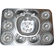 Two 1994 Wilton Mini Pumpkin Jack-o-lantern Pans