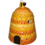 Ceramic Beehive Honey or Jam Jar
