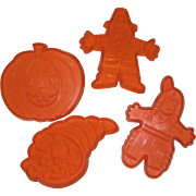 Hutzler's Thanksgiving and Autumn Cookie Cutters - 1986