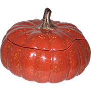 Barbara Eigen Speckled Pumpkin Autumn Harvest Soup Tureen