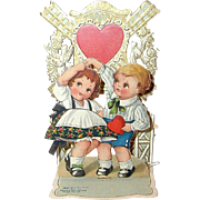 Stand-up Valentine - Children and Windmill
