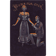 Valentine Postcard - Yours Forever - 1907