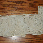 Handmade Filet Crochet Lace Bodice with Birds