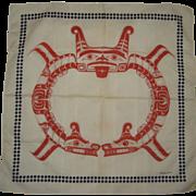 1979 Barry Herem Serigraph Scarf - Northwest Native American Design