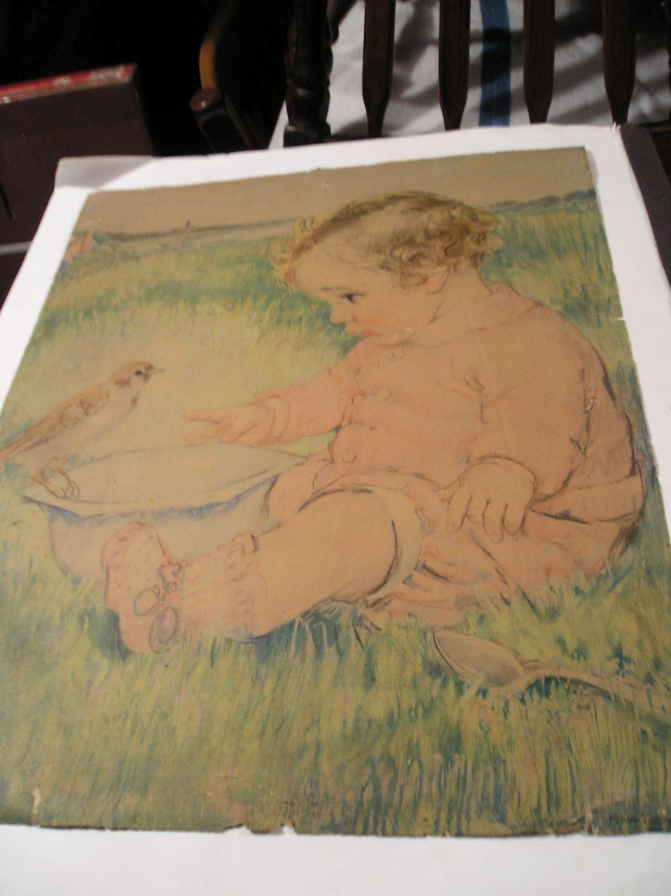 Maud Tousey Fangel Baby Print