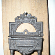 Cast Iron Match Holder:Piano Case