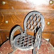 Folk Art Baby Doll Rocking Chair