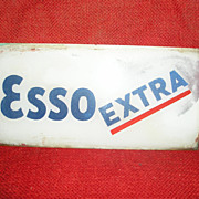 Esso Gasoline-Glass Sign-Pump-Advertising