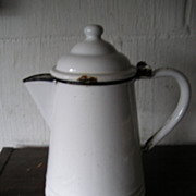 Porcelain Enamelware Coffee Pot