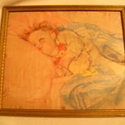 Baby Print Illustration-Maud Tausey Fangel